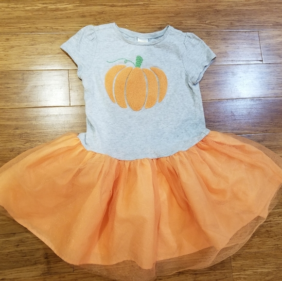 Gymboree pumpkin tutu dress 5T